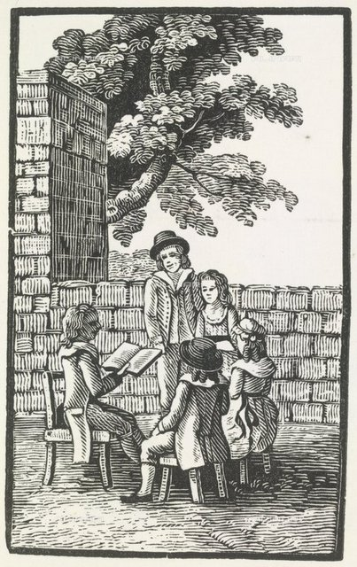 A reading, from 'Bewick's Woodcuts' (London, 1870), Colindale, 542, British Library, London
