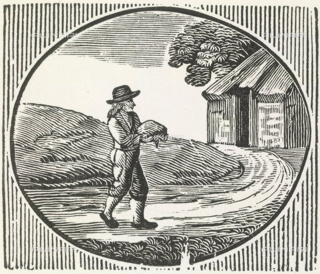 Carrying a package, from 'Bewick's Woodcuts' (London, 1870), 1784.b.13, 563, British Library, London