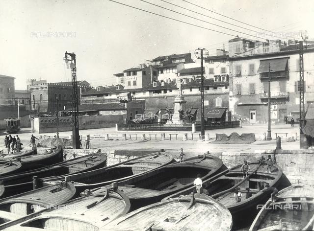 Boats in the little port of Livorno