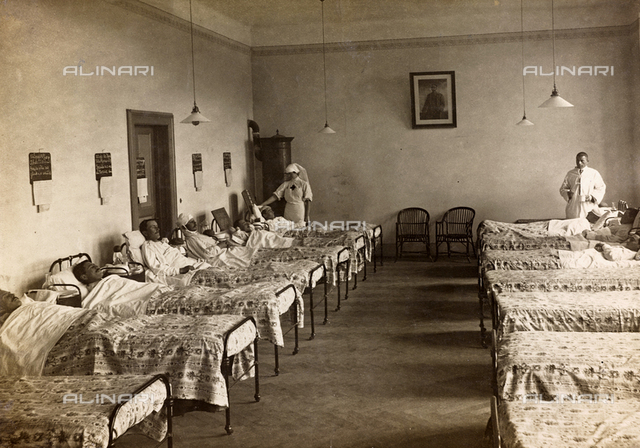 """Album """" Jack Bosio - War Campaign 1917-1920 """": a department of the military hospital of Gradisca d'Isonzo"""