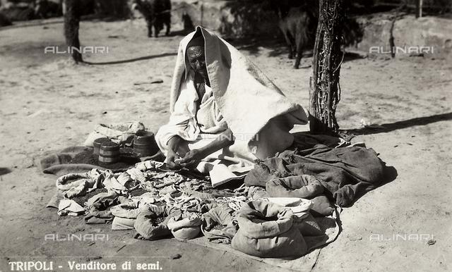 A seed vendor in Tripoli