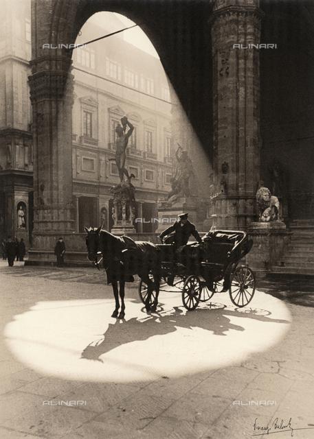 Carriage in the Piazza della Signoria in Florence