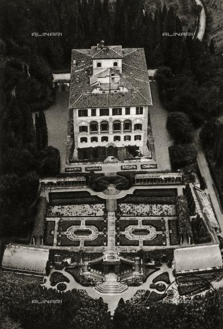 Aerial view of Villa Salviatino The residence of the writer Ugo Ojetti