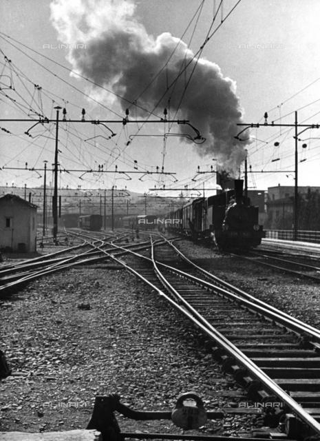 Train with steam engine