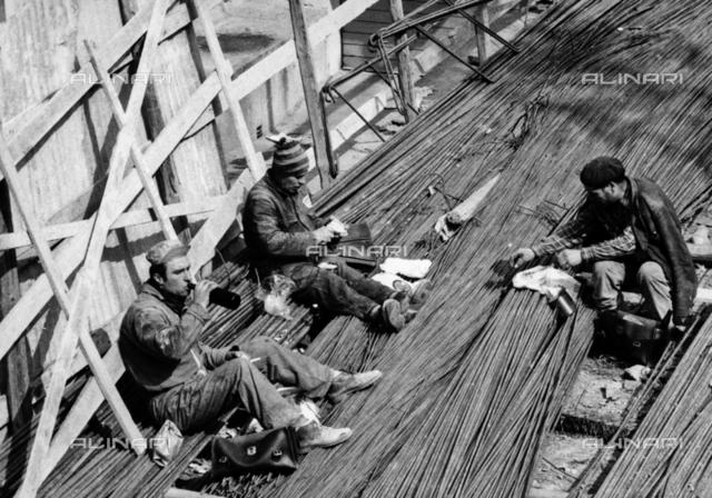 Workers in lunch break
