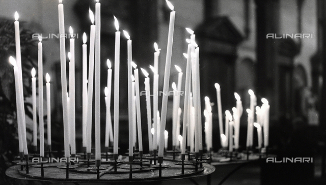 Candles inside a church