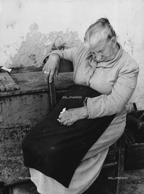"""""""Old woman sleeping"""""""