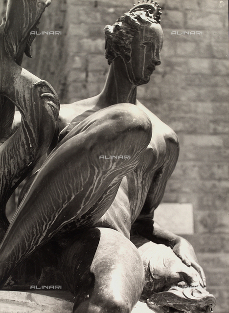 A Nereid, detail of the Fountain of Neptune, Florence