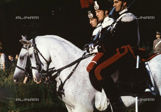 Carabinieri by horse