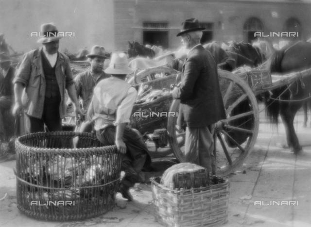 Farmers at the market; photo studio