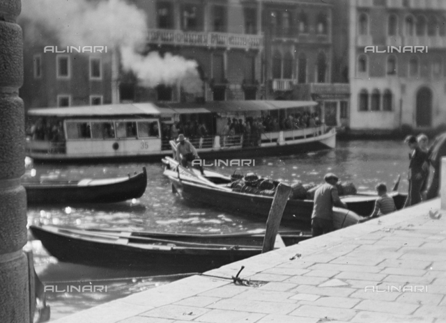 Boats and boat on the Grand Canal, Venice