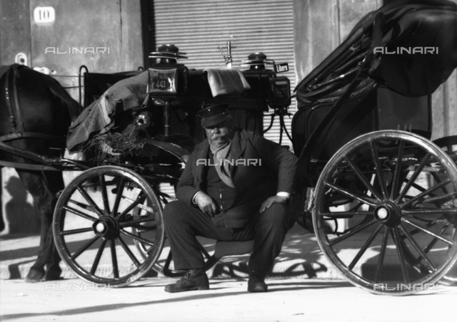 Chauffeur with carriage, Florence