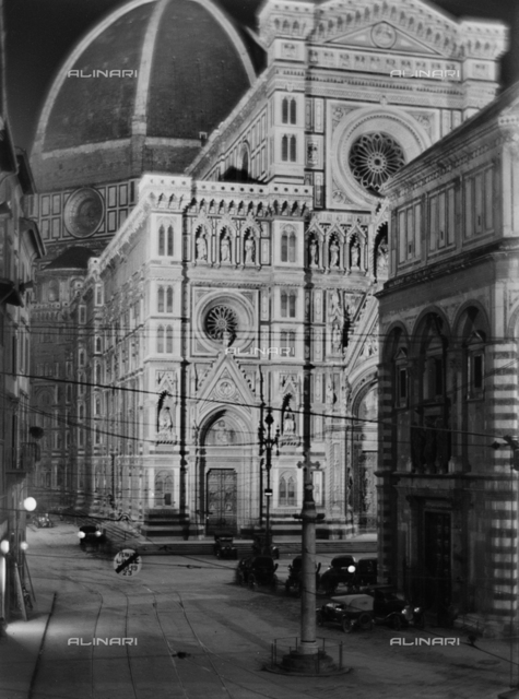 The Florence Cathedral at night