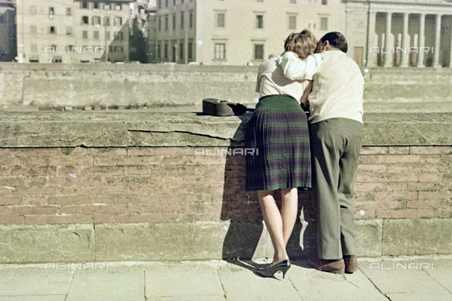 Couple on the Lungarno in Florence