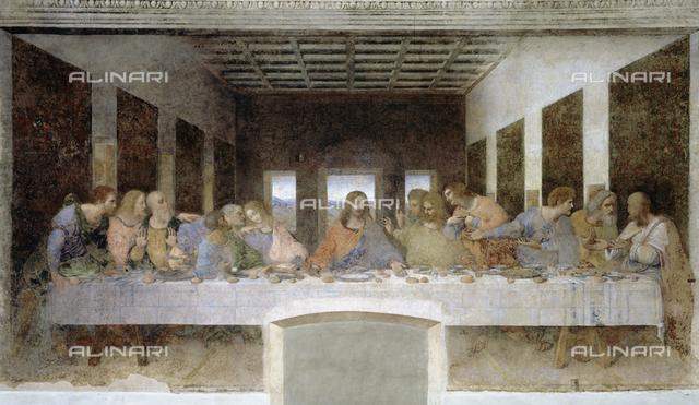 Last Supper, Leonardo da Vinci, Cenacle of Santa Maria delle Grazie, Milan