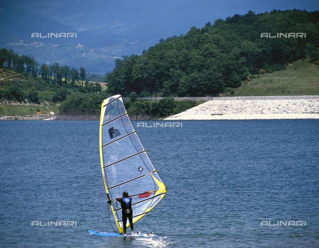 Windsurfing on Lake Bilancino