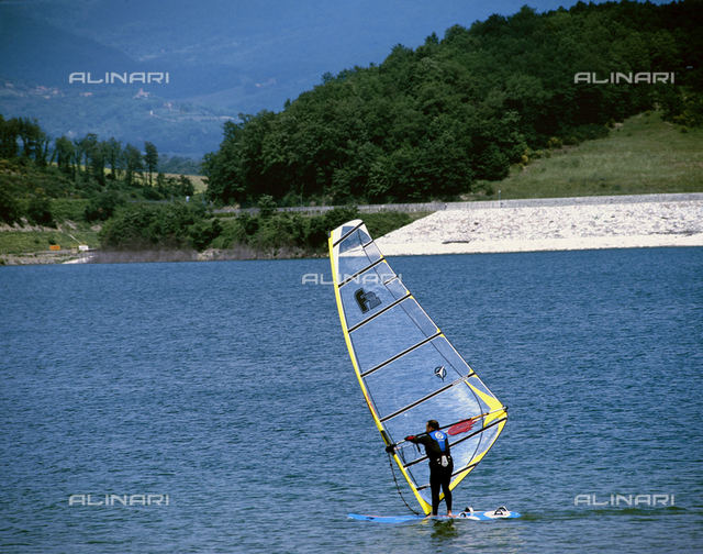 Windsurfing on Lake Bilancino