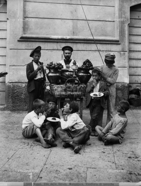 A Maruzzaro, seller of snails, Naples