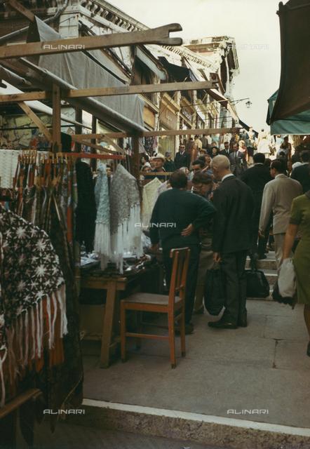 Shops on the Rialto Bridge in Venice