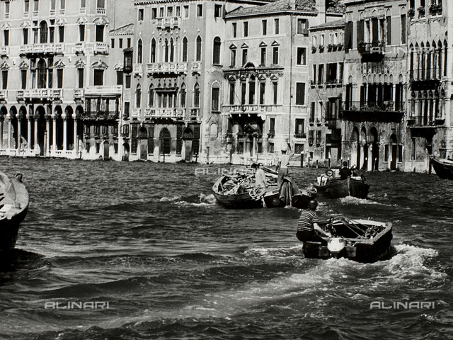 Boats in the Venice lagoon