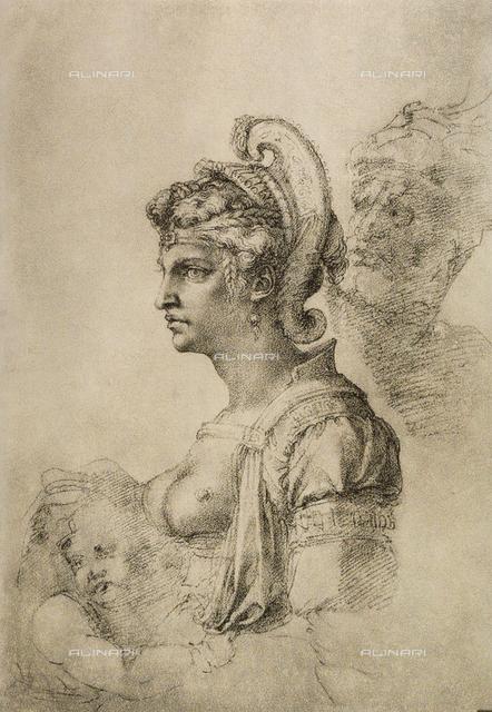 Cleopatra, Gabinetto dei Disegni e delle Stampe, Uffizi Gallery, Florence