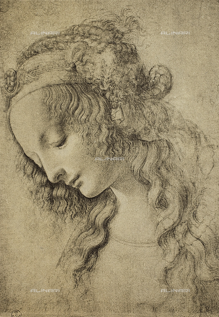 Study of a female face or for the head of Mary Madgdalen, Gabinetto dei Disegni e delle Stampe, Uffizi Gallery, Florence