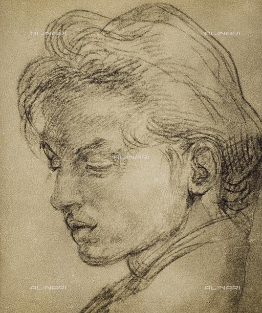 Portrait of a young man in profile, Gabinetto dei Disegni e delle Stampe, Uffizi Gallery, Florence