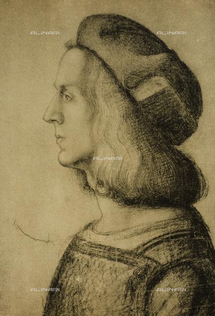 Male profile, Gabinetto dei Disegni e delle Stampe, Uffizi Gallery, Florence