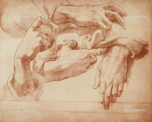 Study of hands, Andrea del Sarto, Gabinetto dei Disegni e delle Stampe, Museum of the Uffizi, Florence