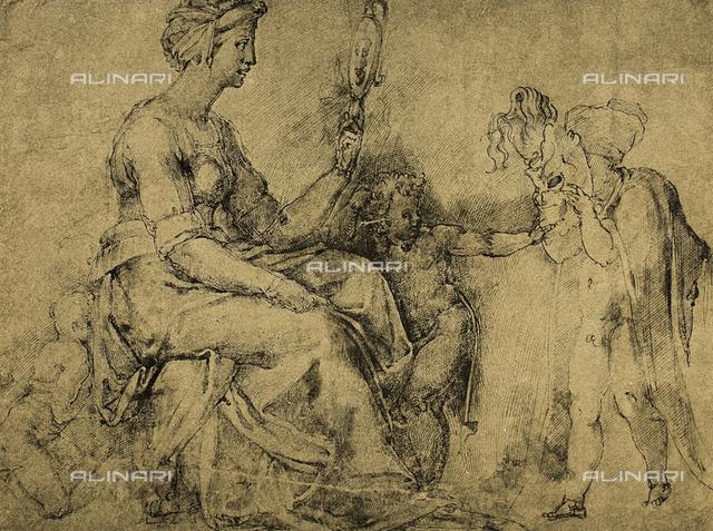 Vanity (?), Gabinetto dei Disegni e delle Stampe, Uffizi Gallery, Florence