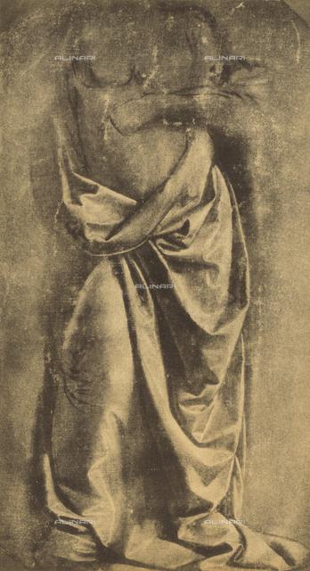 Drapery study; drawing by Leonardo da Vinci. Gabinetto dei Disegni e delle Stampe, Uffizi Gallery, Florence