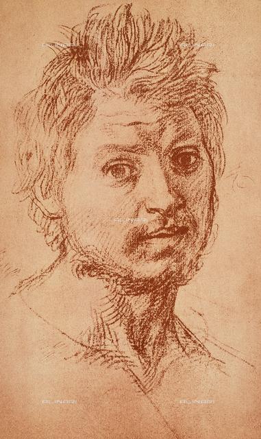 Male portrait, Gabinetto dei Disegni e delle Stampe, Uffizi Gallery, Florence