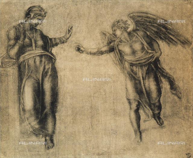 Annunciation; Gabinetto dei Disegni e delle Stampe, Uffizi Gallery, Florence