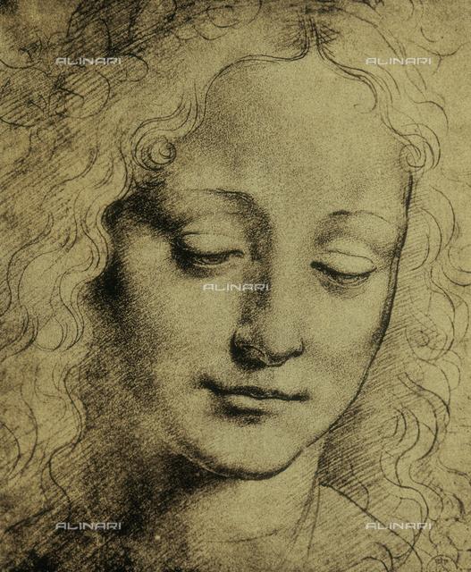 Human face, drawing, Leonardo da Vinci, Gabinetto dei Disegni e delle Stampe, Uffizi Gallery, Florence
