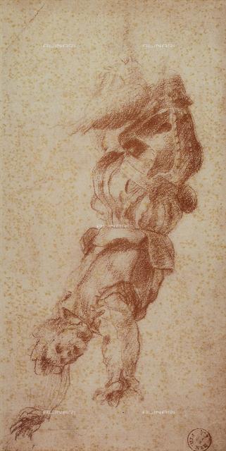 Falling soldier, Andrea del Sarto, Gabinetto dei Disegni e delle Stampe, Uffizi Gallery, Florence.