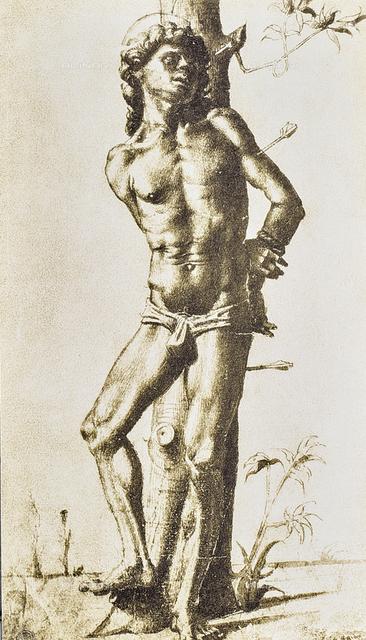 Figure of a saint, Gabinetto dei Disegni e delle Stampe, Uffizi Gallery, Florence