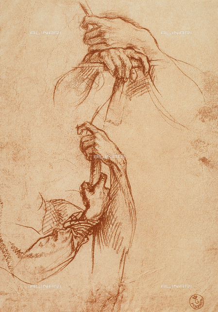 Study of hands, Andrea del Sarto. Department of Drawings and Prints, Uffizi Gallery, Florence.