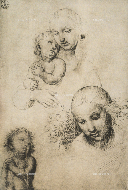 Study for a Madonna and Child, Gabinetto dei Disegni e delle Stampe, Uffizi Gallery, Florence