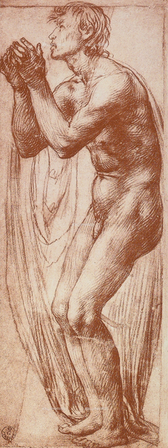 Human figure study, Gabinetto dei Disegni e delle Stampe, Uffizi Gallery, Florence