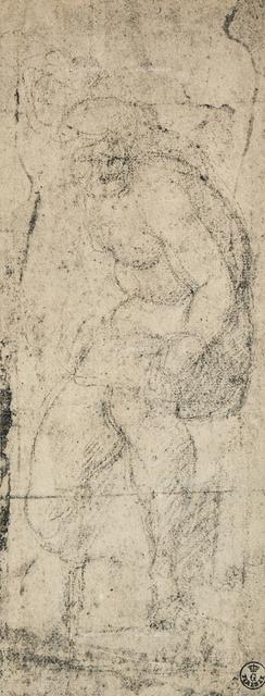 Male nude, study by Michelangelo, Gabinetto dei Disegni e delle Stampe, Uffizi Gallery, Florence