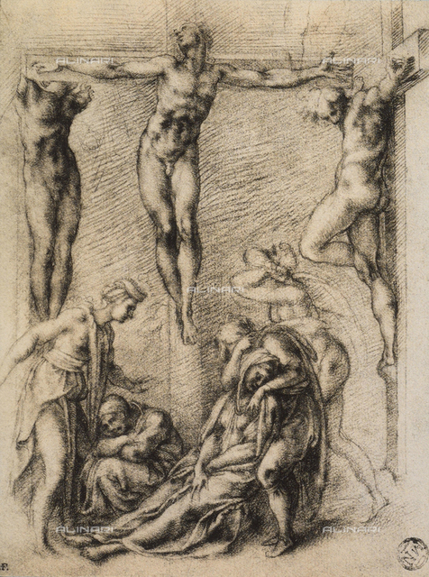 Crucifixion, drawing, The Louvre, Paris