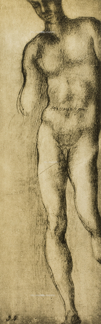 Study of a male figure, Michelangelo, Casa Buonarroti, Florence