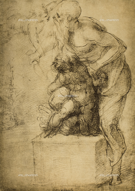 The Sacrifice of Isaac; drawing by Michelangelo. Casa Buonarroti, Florence