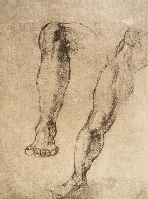 Study of legs, Casa Buonarroti, Florence