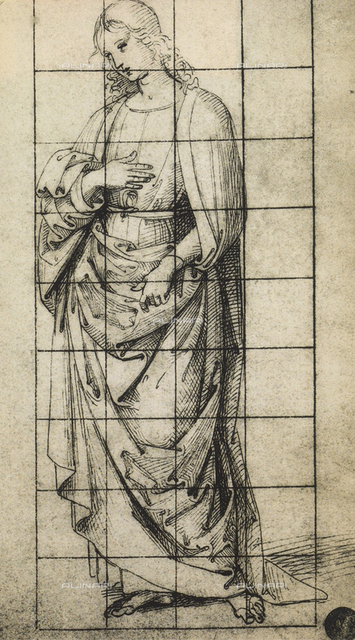 Study for a St. John the Evangelist; drawing, Gallerie dell'Accademia, Venice