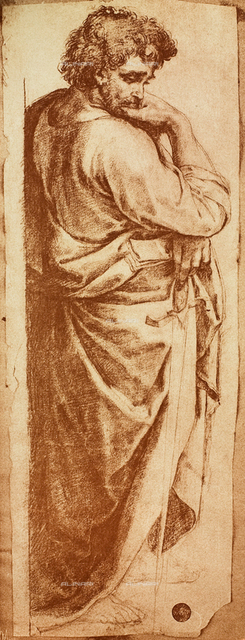 Male figure, drawing, Gallerie dell'Accademia, Venice