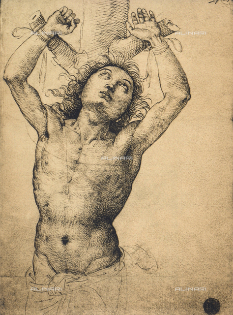 Saint Sebastian; drawing, Gallerie dell'Accademia, Venice