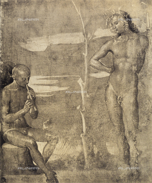 Nude males,drawing, Gallerie dell'Accademia, Venice