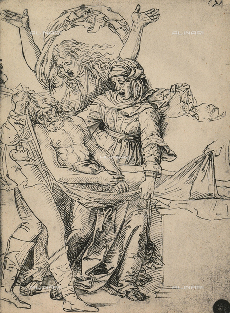 Study for the deposition from the cross, drawing, Gallerie dell'Accademia, Venice