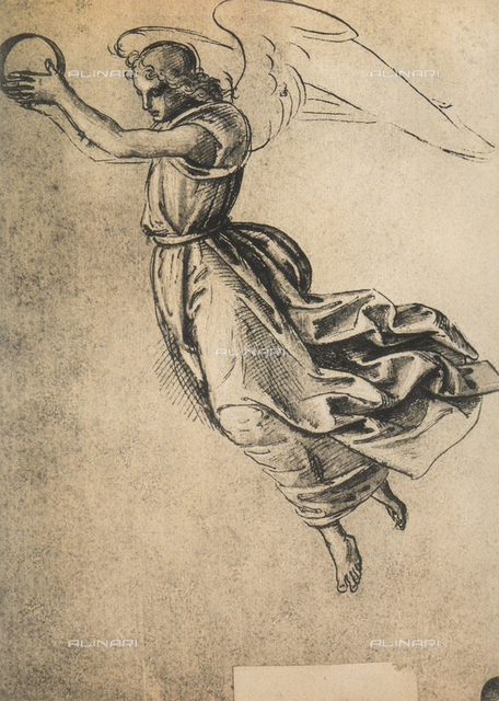 An angel, drawing, Gallerie dell'Accademia, Venice